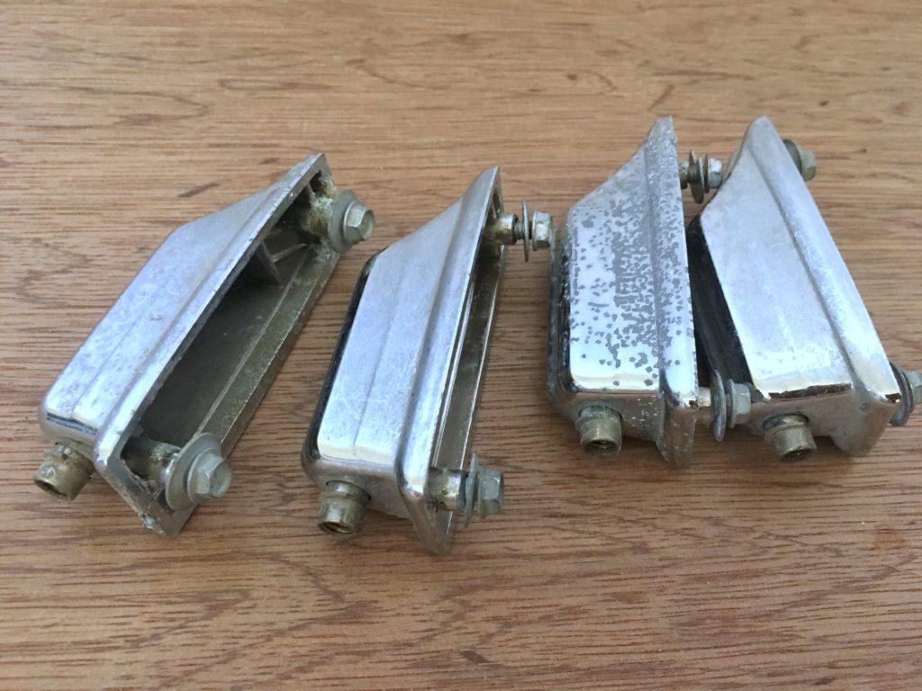Rogers beavertail bass drum lug casings