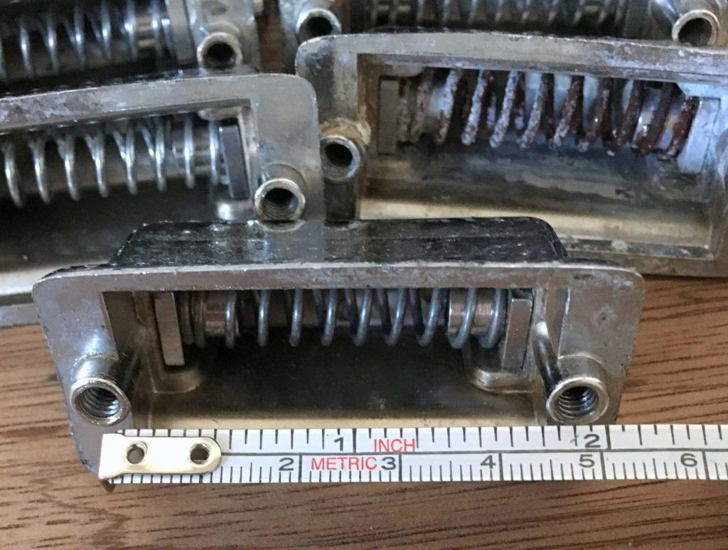 Rogers beavertail snare drum lug casings