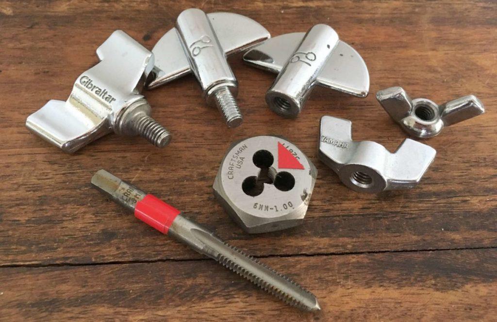 6mm-1.00: Small Modern Drum Hardware Thread