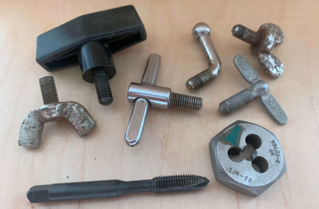 1/4-28 WFL Ludwig wing bolts
