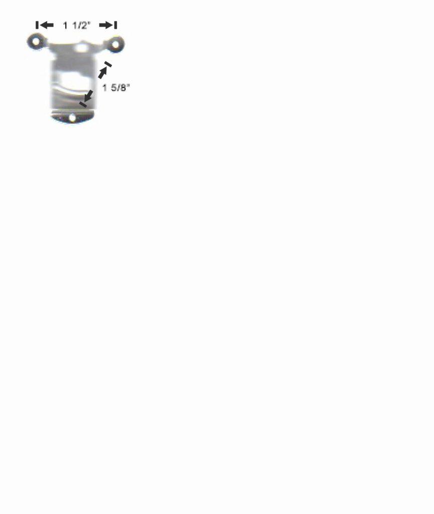 Slingerland 967 snare drum strainer mounting hole pattern spacing