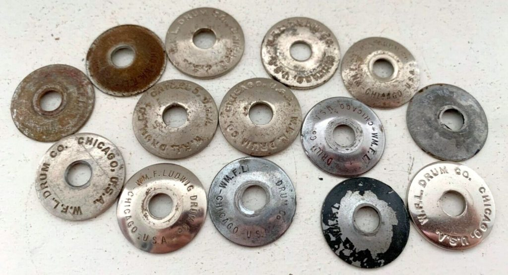 WFL logo mounting cup washers
